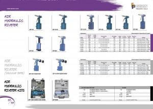 p57 58 Vzduchové hydraulické nýty Vzduchové hydraulické nýty