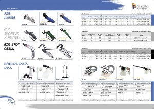 p69 70 Air Cutter Air Secateur Air Pruner Air Spot Drill Air Spot Sand Blaster Air Vacuum Bow Kit Air Spume Cleaning Gun