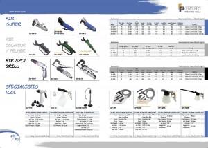 p69 70 Air Cutter Air Secateur Air Pruner Air Spot Drill Air Spot Sand Blaster Air Vacuum Bow Kits Air Spume Cleaning Gun