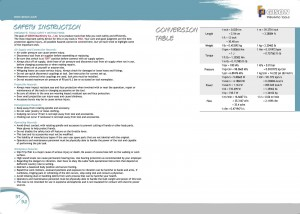 P91 92 안전 지침 변환 표