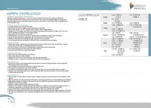 p9192安全指示換算表