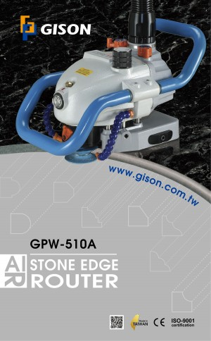Pos GPW-510A Air Stone Edge Profiling Machine (9000rpm) Poster