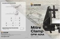 GISON GPW-A04A Abrazadera de inglete DM - GISON Abrazadera de inglete DM