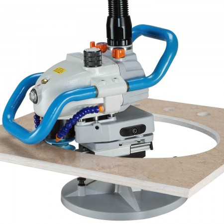 Air Stone Router (9000rpm, include staffa per binario) - Router pneumatico per pietre (interno / esterno)