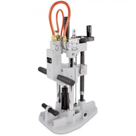 輕便型氣動濕式鑽孔機 (含真空吸盤固定座) - 攜帶式氣動濕式鑽孔機 (含真空吸盤固定座)