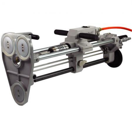 旋轉式氣動鎚鑽 (SDS-plus, 1500轉/每分鐘,含真空吸盤固定座) - 攜帶式氣動鑽床,鑽孔機 (含真空吸盤固定座)