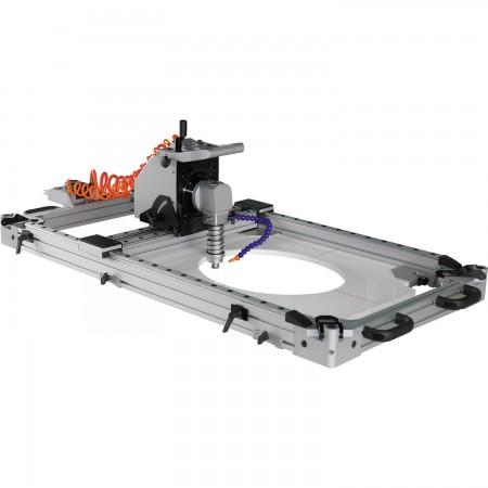 桌上型氣動石材鑽孔/切割/靠模仿形開槽機 - 氣動石材鑽孔/切割/靠模仿形開槽機