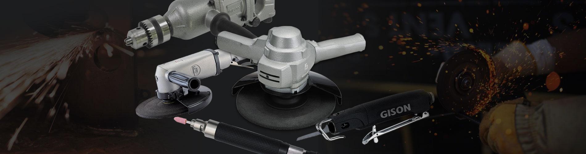 金属加工风动工具, 气动工具 应用于砂轮与 金属切割及钻孔