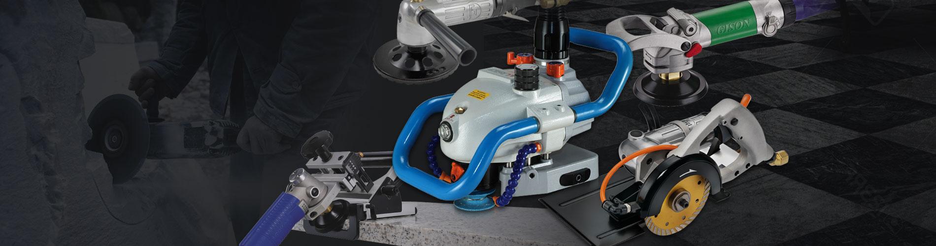 石用空気圧工具 さまざまな石に使用 成形、切断、水フライス加工