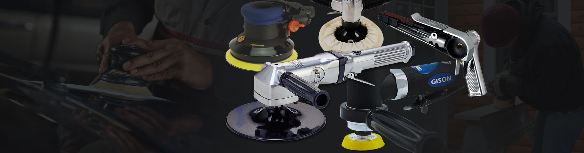 研磨用氣動工具 金屬、木材、汽車表面 砂光、研磨與拋光專用