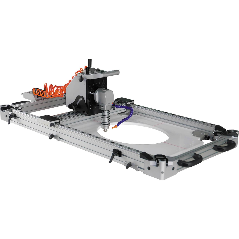 桌上型 风动石材钻孔/切割/靠模仿形开槽机 - 风动石材钻孔/切割/靠模仿形开槽机
