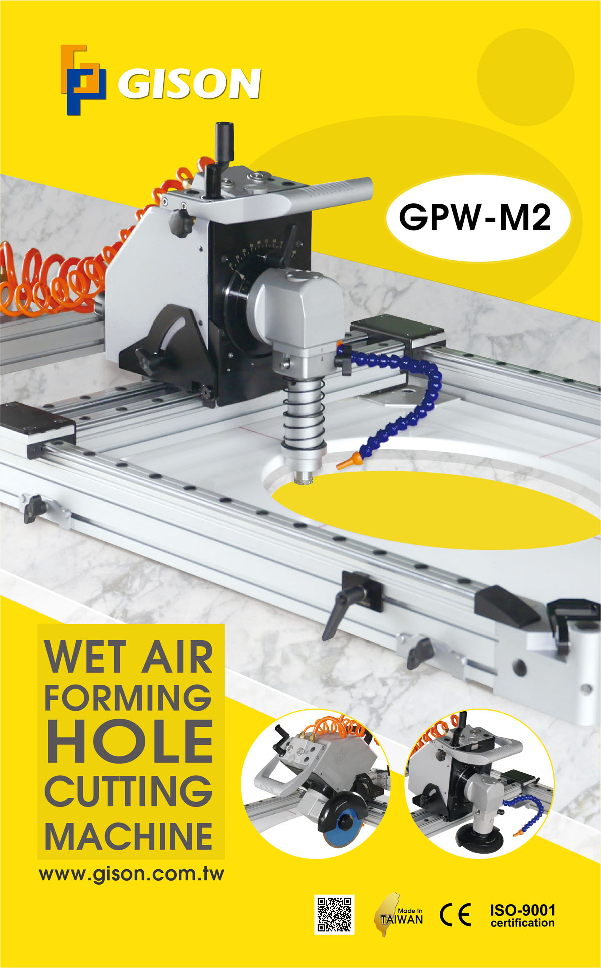 Portable Wet Air Stone Hole Cutting Amp Forming Milling