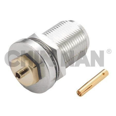"N Straight Bulkhead Jack Solder For RG405/U(.085"") Cable"