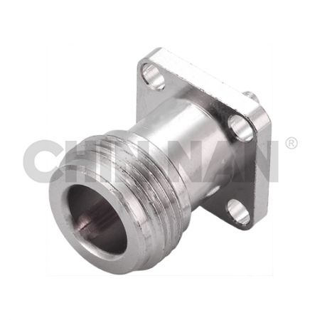 SEALED Connectors - N Straight Square Flange Jack  Crimp for RG 174 or RG 316 or RG188 cable