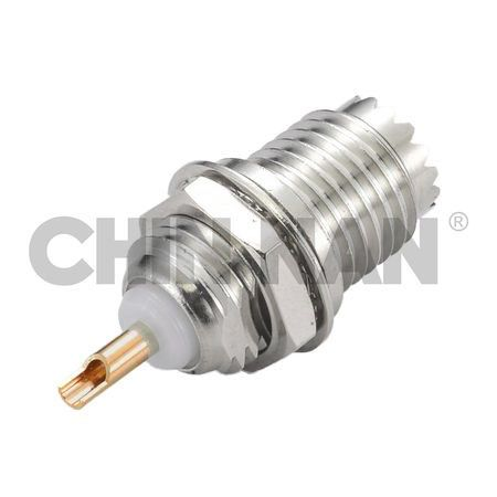 MINI-UHF Connector Straight Bulkhead Jack Receptacle (Front Mount) - MINI-UHF Connector Straight Bulkhead Jack Receptacle (Front Mount)