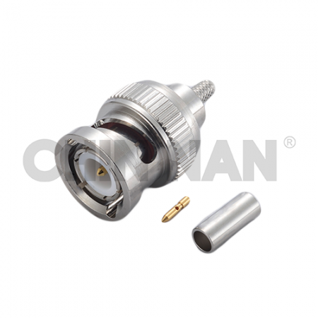 BNC Connectors - BNC Straight Plug Crimp for RG 174 or RG 316 or RG188 or LMR100A cable