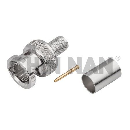 6G_75ohm connectors - BNC Straight Plug Crimp for 1694A Cable - 6G_75ohm connectors - BNC Straight Plug Crimp for 1694A Cable