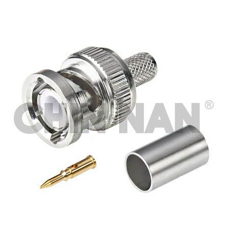 BNC Straight Plug Crimp for RG59 or RG62A or RG210 Cable