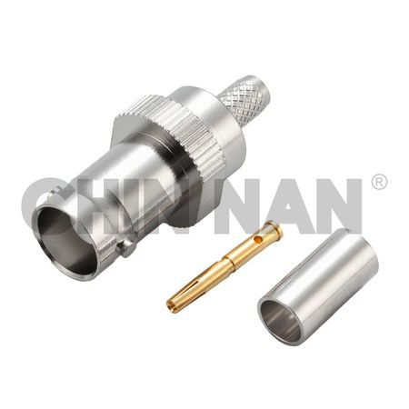 BNC Connectors - BNC Straight Jack Crimp for RG 58 or 141A/U cable