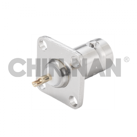 BNC Connectors - BNC Straight Square Flang Jack Receptacle
