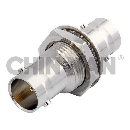 6G_75ohm Connectors - Straight BNC Bulkhead Jack-Jack Adapter - 6G_75ohm Connectors - Straight BNC Bulkhead Jack-Jack Adapter