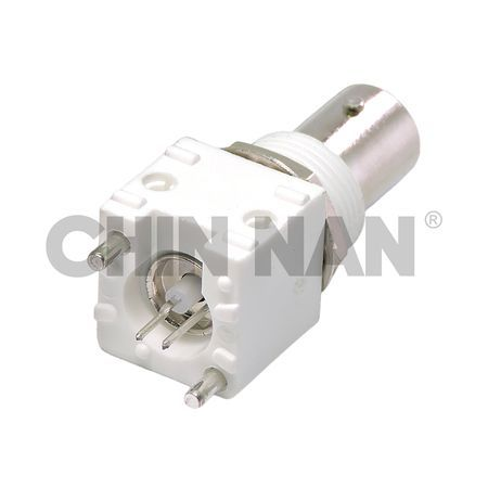 BNC Connectors - BNC Straight PCB Mount Bulkhead Jack Receptacle(Valox Housing) - BNC Straight PCB Mount Bulkhead Jack Receptacle (Valox Housing)