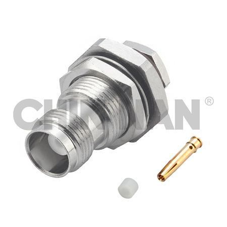 Sealed Connectors - TNC Straight Bulkhead Jack Clamp (rear mount)  for RG 174 or RG 316 or RG188 cable - sealed connectors - tnc straight bulkhead jack clamp (rear mount)  for rg 174 or rg 316 or rg188 cable