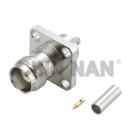 Sealed Connectors - TNC Straight Square Flange Jack  Crimp  for RG 174 or RG 316 or RG188 cable - sealed connectors - tnc straight square flange jack  crimp  for rg 174 or rg 316 or rg188 cable