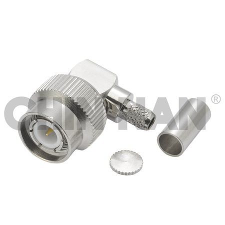 TNC Right Angle Plug Crimp for RG 58 or 141A/U cable - TNC Right Angle Plug Crimp for RG 58 or 141A/U cable