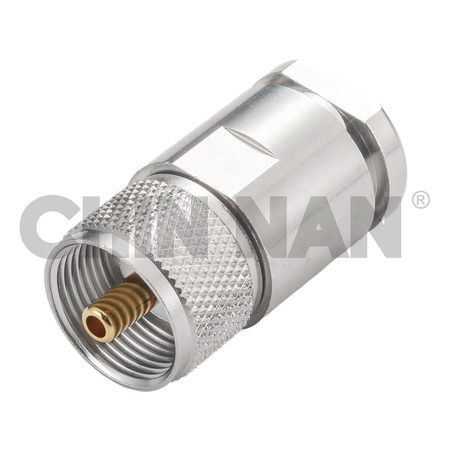 UHF Connectors - UHF Straight Plug Clamp for RG 8A or 213U cable - uhf straight plug clamp for rg 8a or 213u cable