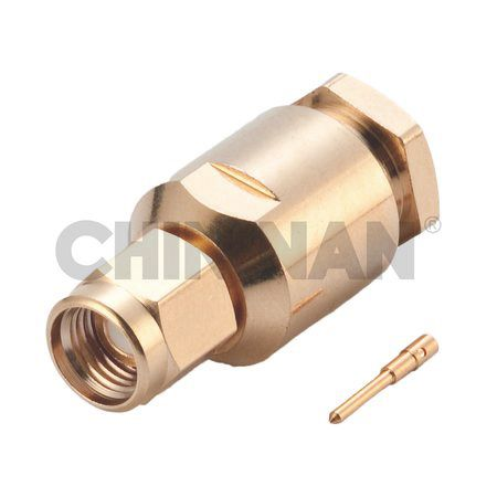 SMA Connectors - SMA Straight Plug Clamp for RG 58 or 141A/U cable - SMA Straight Plug Clamp for RG 58 or 141A/U cable