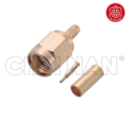 SMA Straight Plug Crimp for RG 174 or RG 316 or RG 188 or LMR 100 cable - SMA Straight Plug Crimp is a SMA plug connector for cable application.