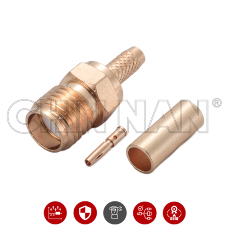 SMA Straight Jack Crimp for RG 174 or RG 316 or RG188 or LMR100 cable - SMA Straight Jack Crimp is a SMA jack connector for cable application.