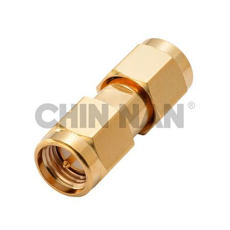 Straight SMA Plug-Plug Coaxial Adapter