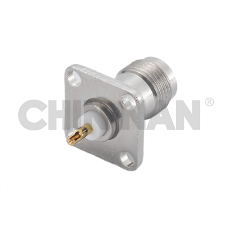TNC Square Flange Jack Receptacle(Solder Pot Contact) - tnc square flange jack receptacle(solder pot contact)