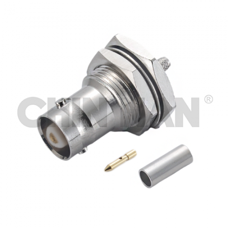 BNC Connectors - BNC Straight Bulkhead Jack Crimp for RG 174 or RG 316 or RG188 or LMR100A cable