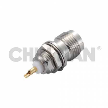 TNC Straight Bulkhead Jack Receptacle(Solder Pot Contact) - tnc straight bulkhead jack receptacle(solder pot contact)