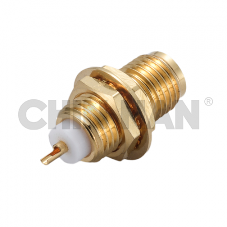 SMA Straight Bulkhead Jack Receptacle(Solder Pot Contact) - sma straight bulkhead jack receptacle(solder pot contact)