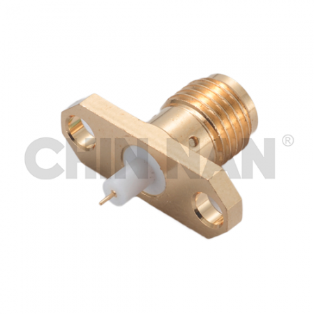 SMA Straight 2 Hole Flange Jack Receptacle(For Microstrip Line Circuits) - sma straight 2 hole flange jack receptacle(for microstrip line circuits)