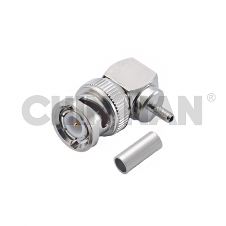 BNC Connectors - BNC Right Angle Plug Crimp for RG 174 or RG 316 or RG188 or LMR100A cable
