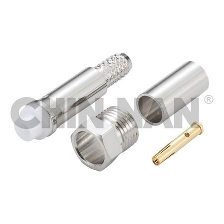 SAP Connectors - FME(SAP) Straight Jack Crimp for RG 58 or 141A/U cable - FME(SAP) Straight Jack Crimp for RG 58 or 141A/U cable