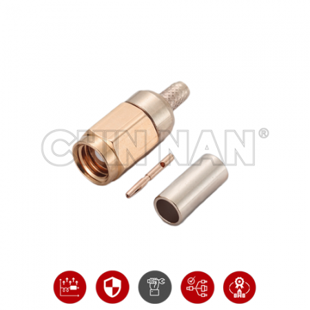 SMC Connectors - SMC Straight Plug Crimp for RG 174 or RG 316 or RG188 or LMR100 cable - smc straight plug crimp for rg 174 or rg 316 or rg188 or lmr100 cable