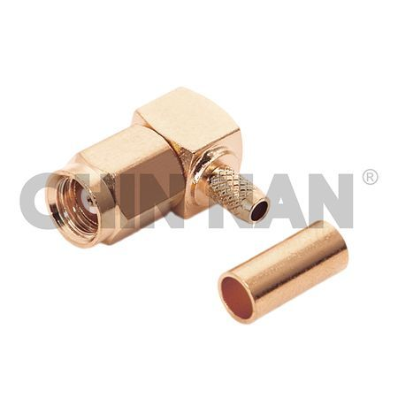 SMC Connectors - SMC Right Angle Plug Crimp for RG 174 or RG 316 or RG188 cable - smc right angle plug crimp for rg 174 or rg 316 or rg188 cable