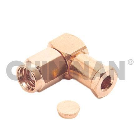 SMC Connectors - SMC Right Angle Plug Clamp for RG 174 or RG 316 or RG188 cable - smc right angle plug clamp for rg 174 or rg 316 or rg188 cable