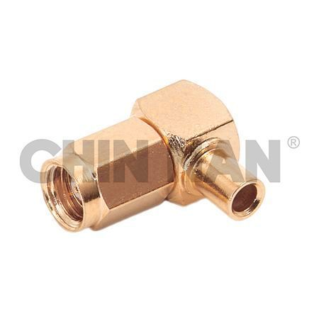 "SMC Right Angle Plug- Solder for RG405/U(UT.085"") cable - SMC Right Angle Plug- Solder for RG405/U(UT.085"") cable"