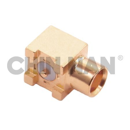 MCX Right Angle Surface Mount Jack Receptacle - MCX Right Angle Surface Mount Jack Receptacle