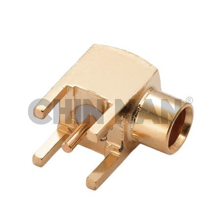 MCX Right Angle PCB Mount Jack Receptacle with Standoff Pads - MCX Right Angle PCB Mount Jack Receptacle with Standoff Pads