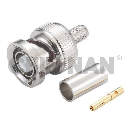 Reverse Polarity Connector BNC Straight Plug Crimp for RG 58 or 141A/U cable - bnc straight plug crimp for rg 58 or 141a/u cable