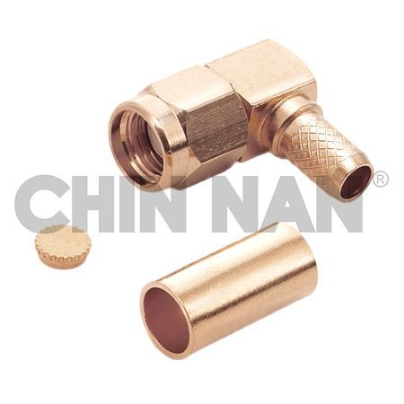 Reverse Polarity Connector SMA Right Angle Plug Crimp for RG 58 or 141A/U cable - Reverse Polarity Connector SMA Right Angle Plug Crimp for RG 58 or 141A/U cable