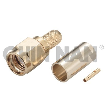 Reverse Polarity Connector SMA Straight Plug Crimp for RG 58 or 141A/U cable - Reverse Polarity Connector SMA Straight Plug Crimp for RG 58 or 141A/U cable